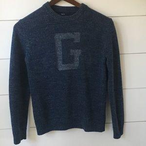 "Boys Navy Blue Gap ""G"" Sweater"